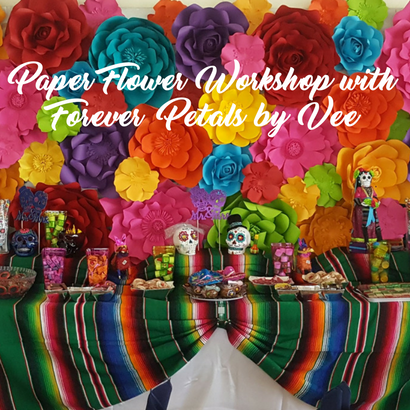 Paper Flower Workshop at La Margarita