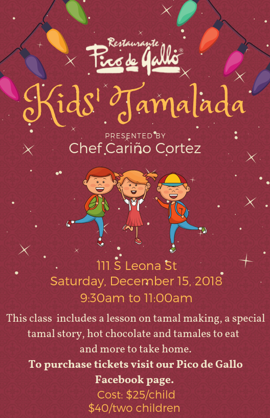 Join Chef Cariño Cortez for a Kids' Tamalada at Pico de Gallo